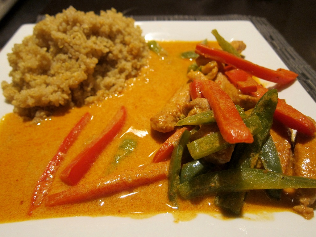 Pork Panang Curry and Quinoa | He Cooks…She Shops