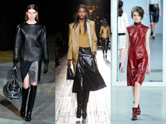 Leather on the fall 2012 runway